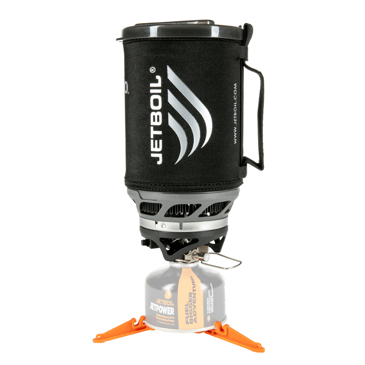 Jetboil SUMO set up with fuel and stabilizer