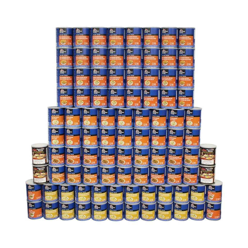 1090 Serving Breakfast, Lunch and Entree Package - 96 cans (Mountain House®)