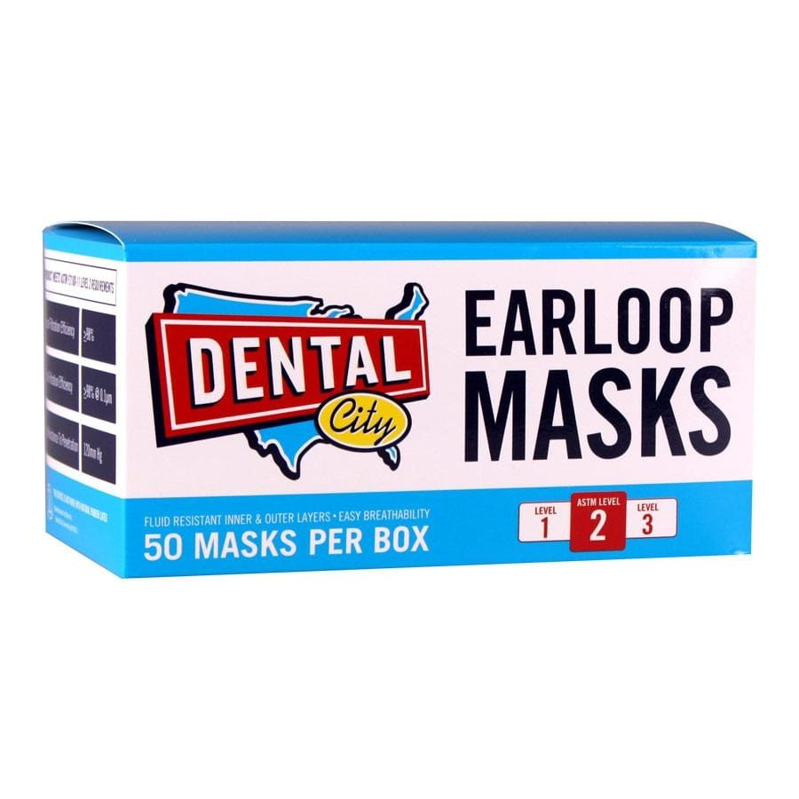 ASTM Level 2 Disposable Ear Loop Masks Pack of 50