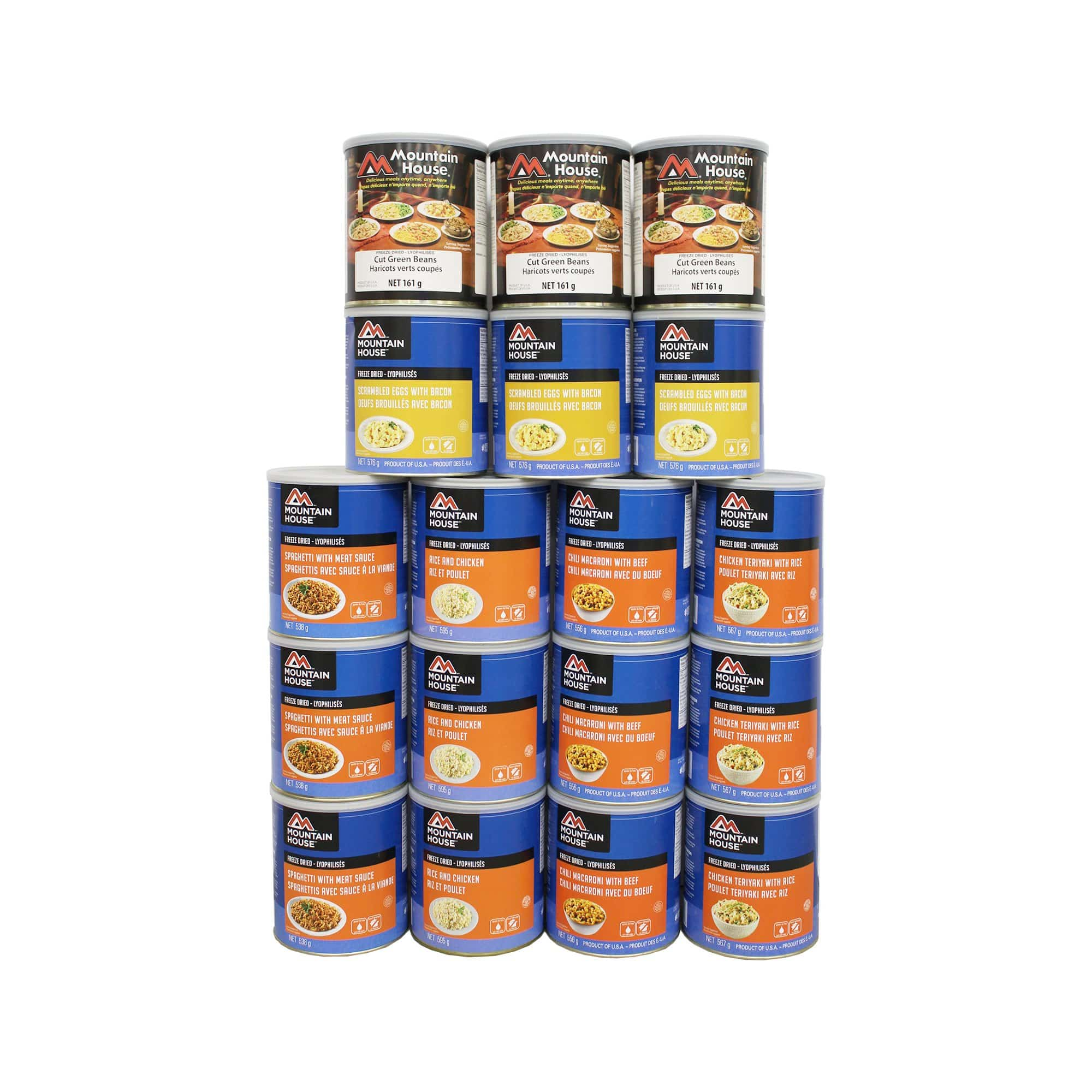 194 Serving Breakfast, Lunch and Entree Package - 18 cans (Mountain House®)