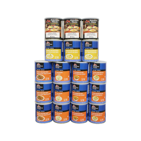 222 Serving Breakfast, Lunch and Entree Package - 18 cans (Mountain House®)