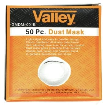 Valley Dust Mask Pack of 50