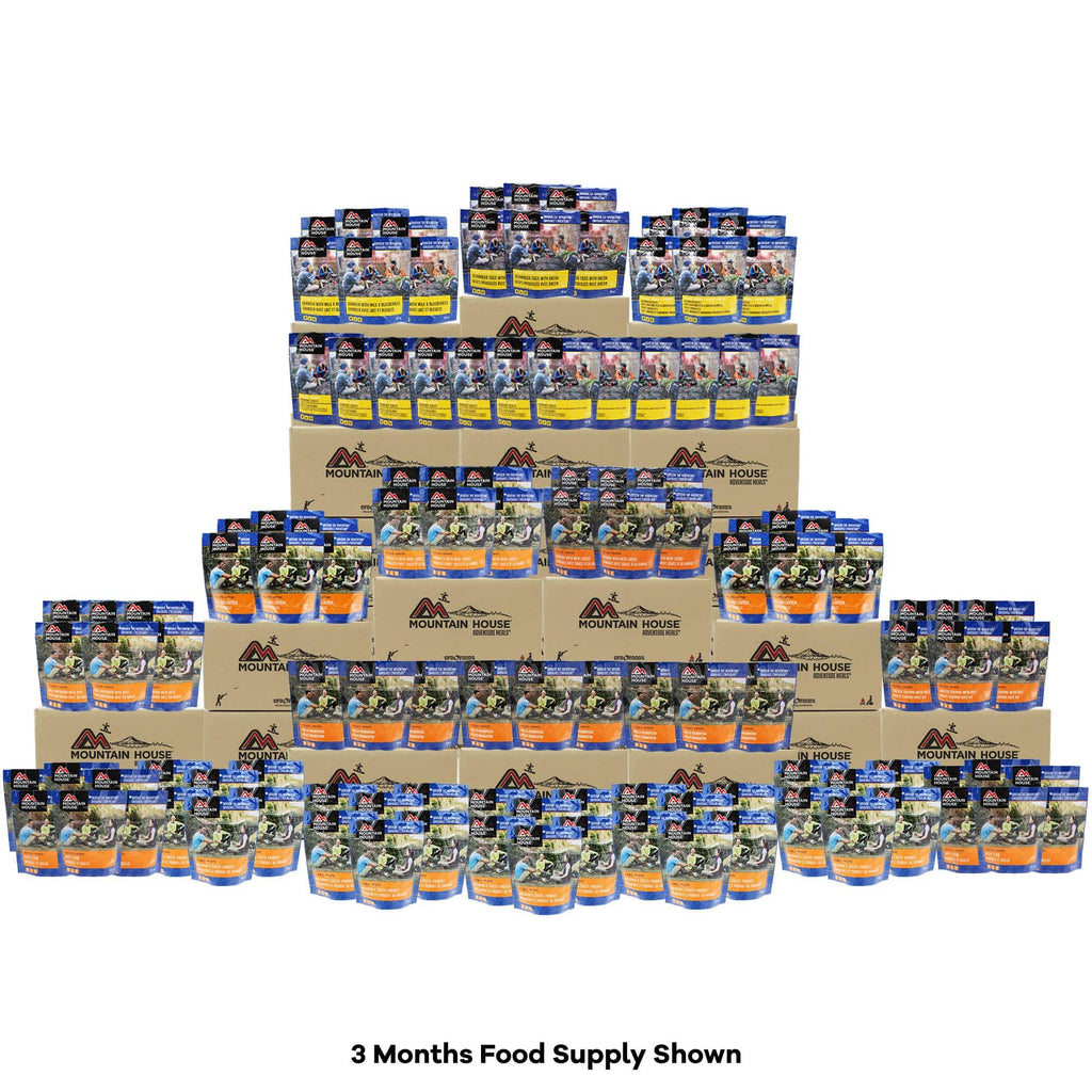 12 Month Food Supply 2000 calories per day - 1068 Pouches (Mountain House®)