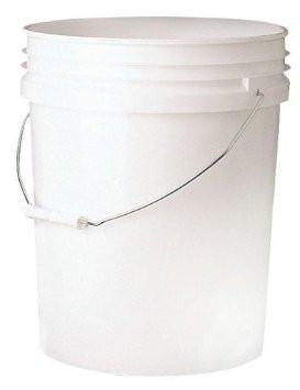 5 Gallon Food Grade Plastic White Bucket / Pail w/handle