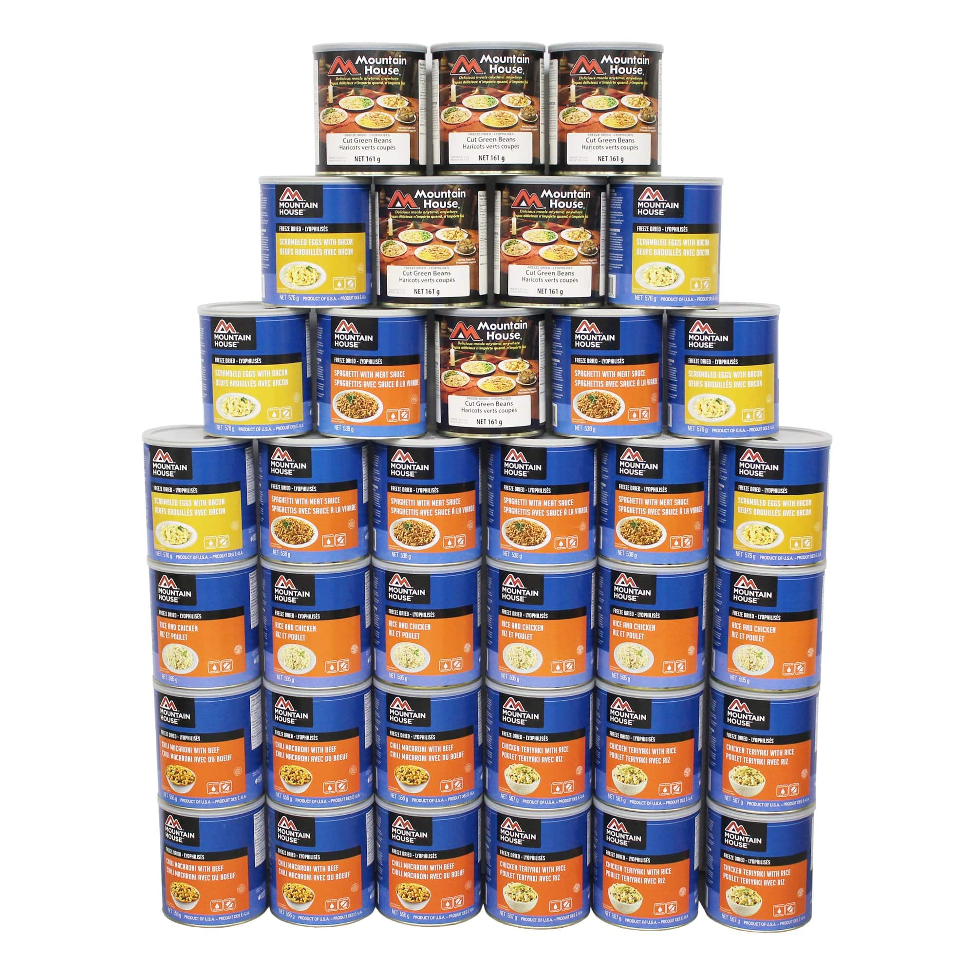 444 Serving Breakfast, Lunch and Entree Package - 36 cans (Mountain House®)