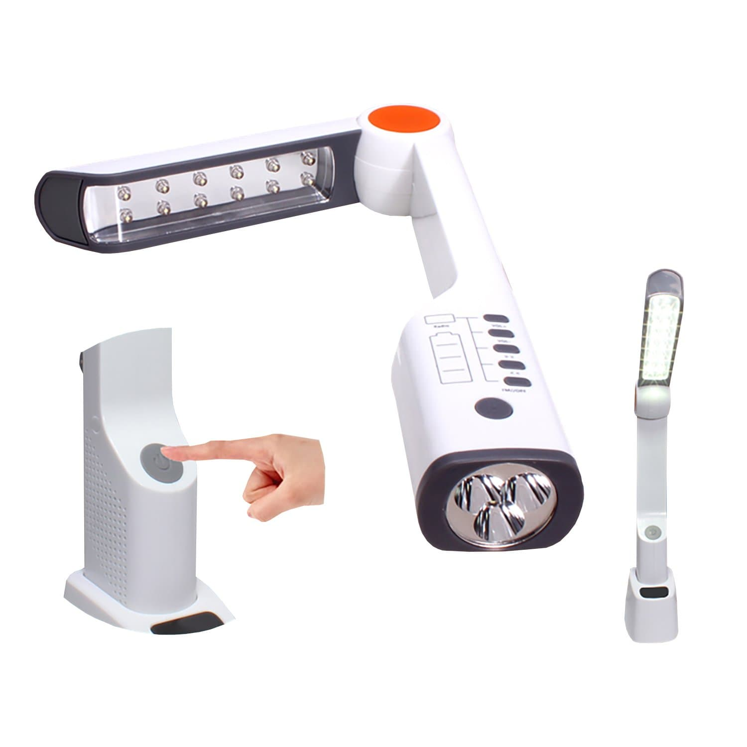 Solar Lamp LED Torch Light+Radio