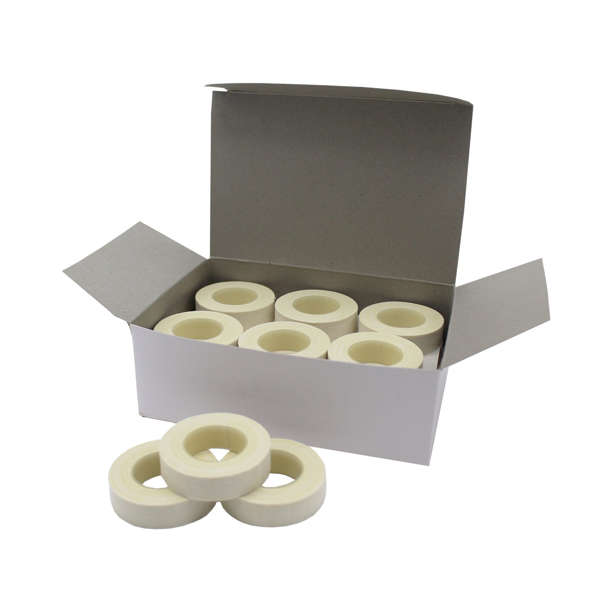 Adhesive Cotton Surgical Tape Roll, 1.27cm x 4.5m - Ready First Aid - (Box of 24)