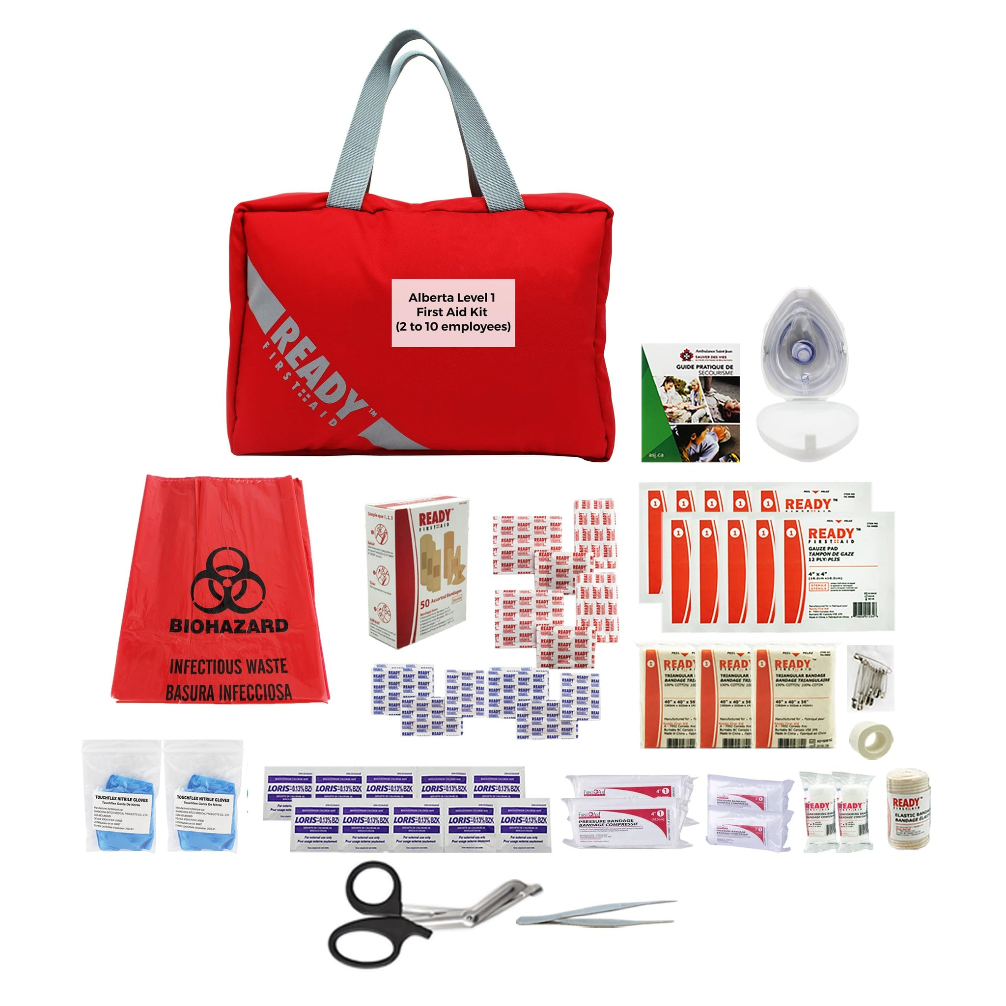 Alberta Level 1 First Aid Kit (2 to 10 employees) - Ready First Aid™