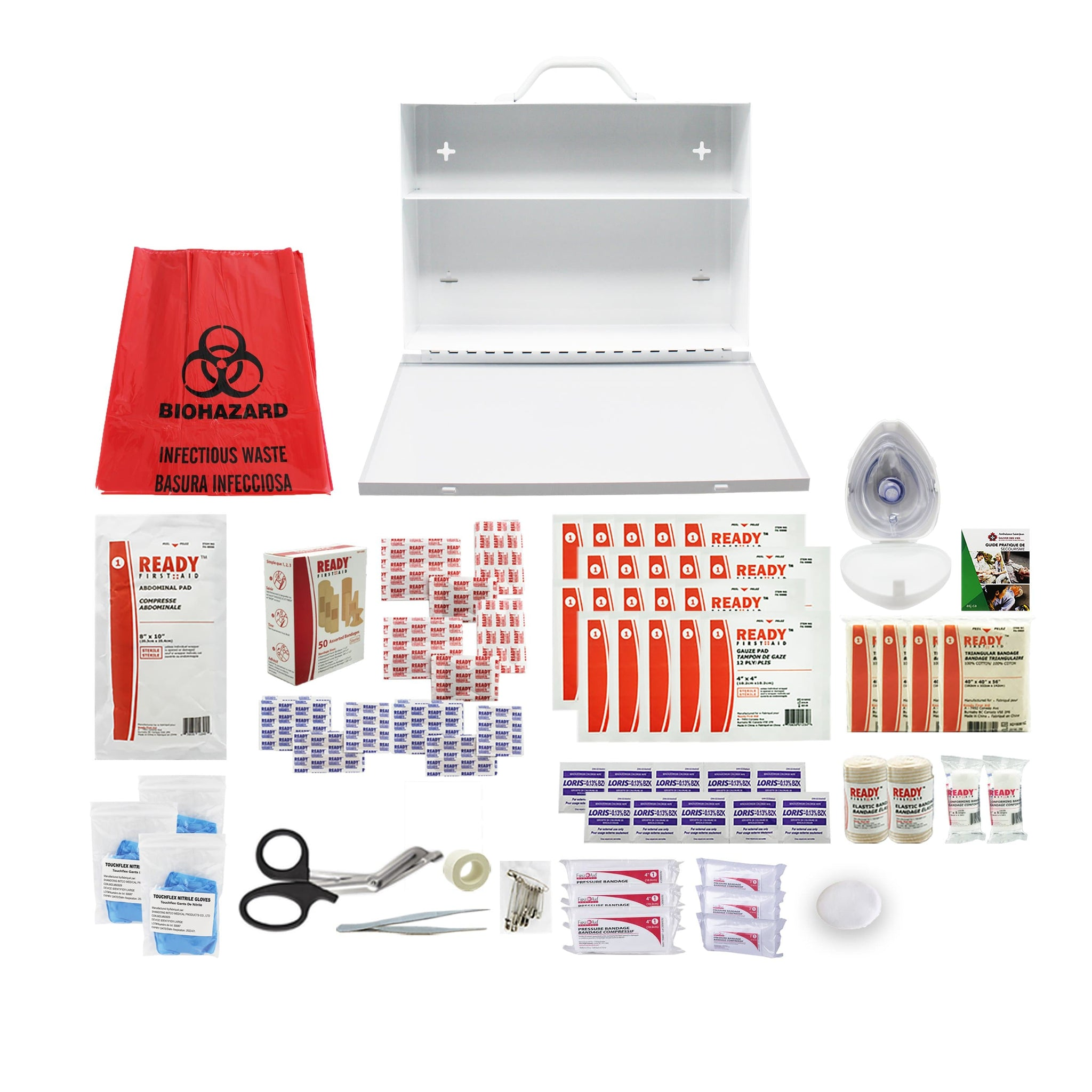 Alberta Level 2 First Aid Kit (10 to 49 employees) Metal Case - Ready First Aid™