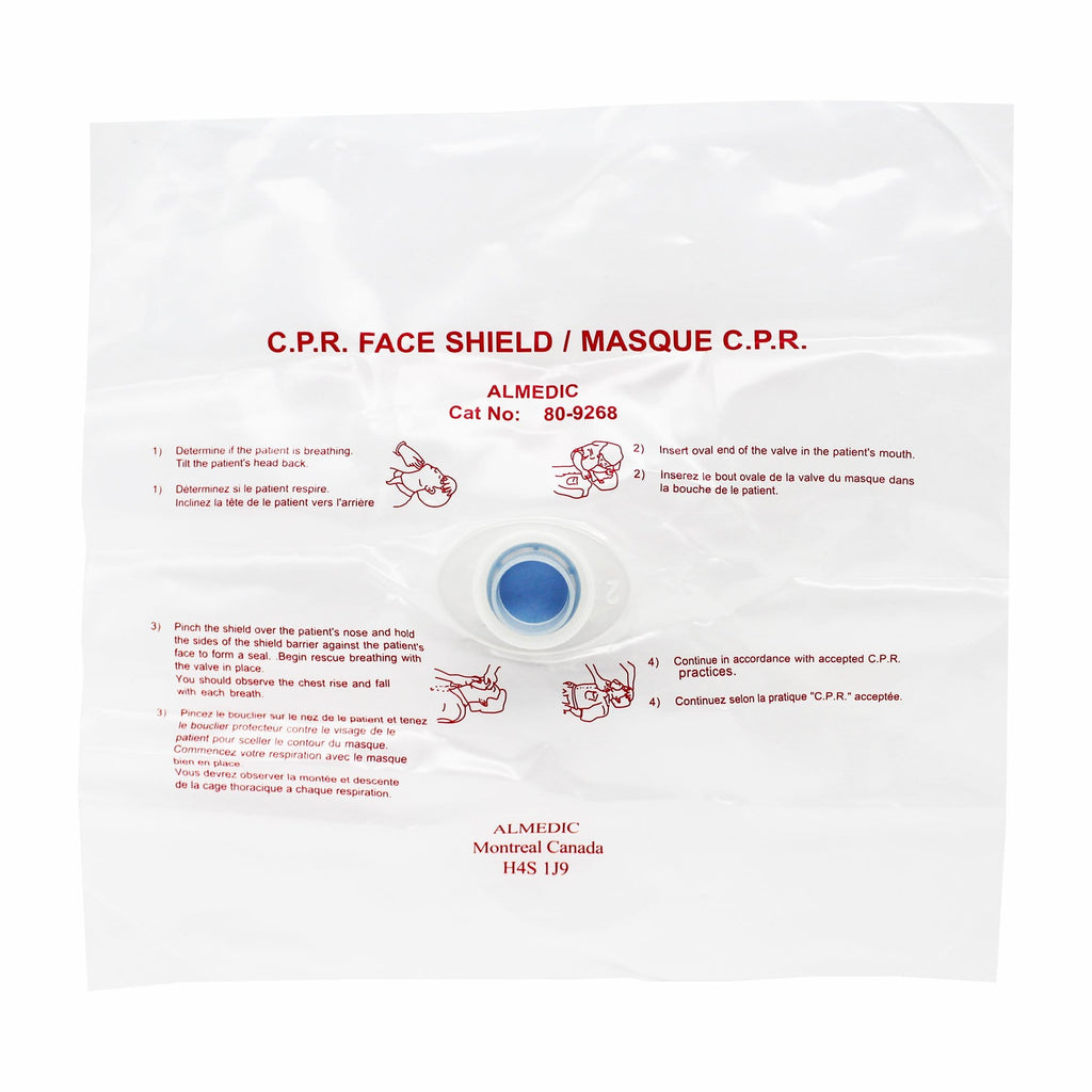 CPR Disposable Face Shield with one-way valve