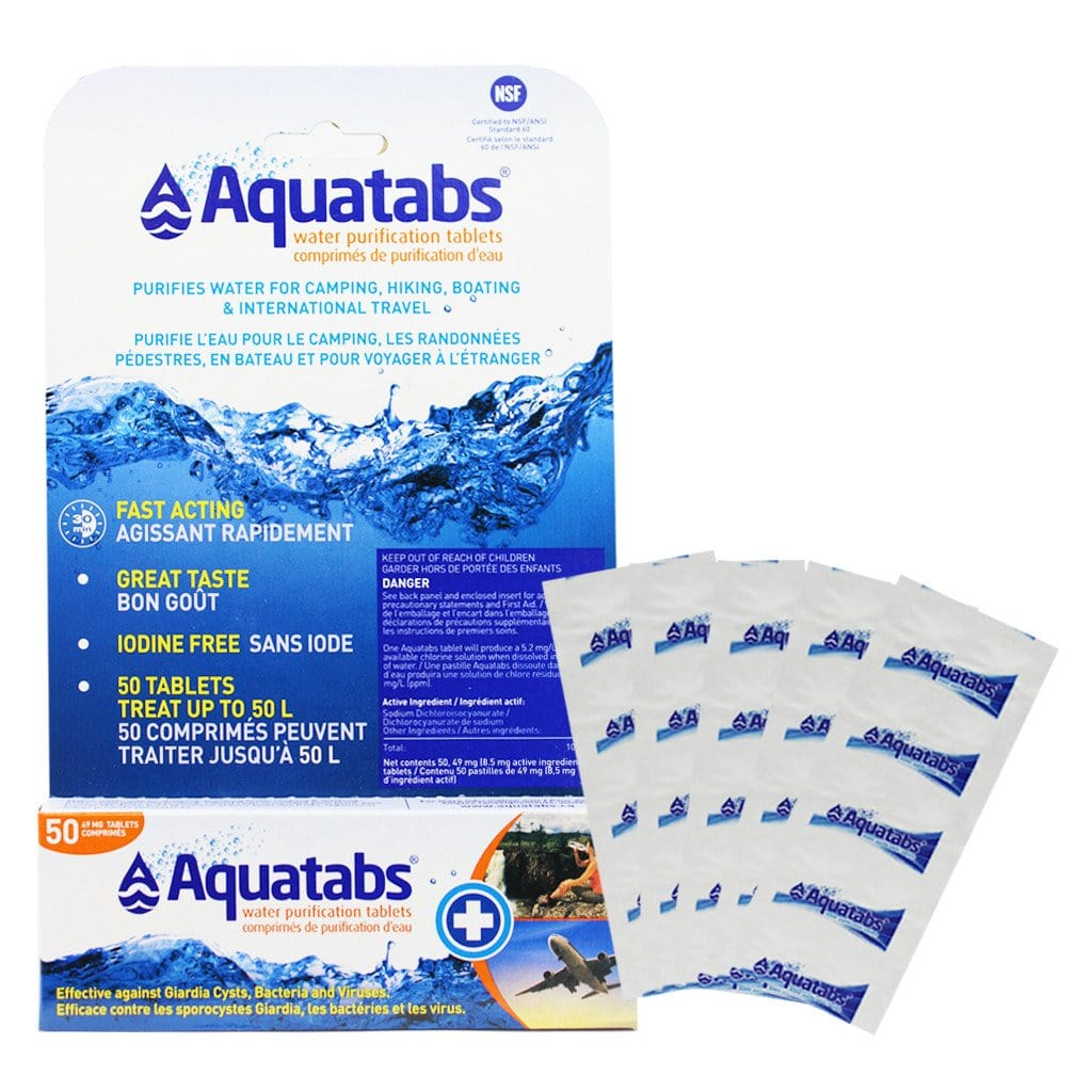 AQUATABS® Water Purification Tablets for 1 L Extra Strength, 50 / pkg.