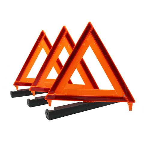 Auto Emergency Warning Triangle - 3 Pack