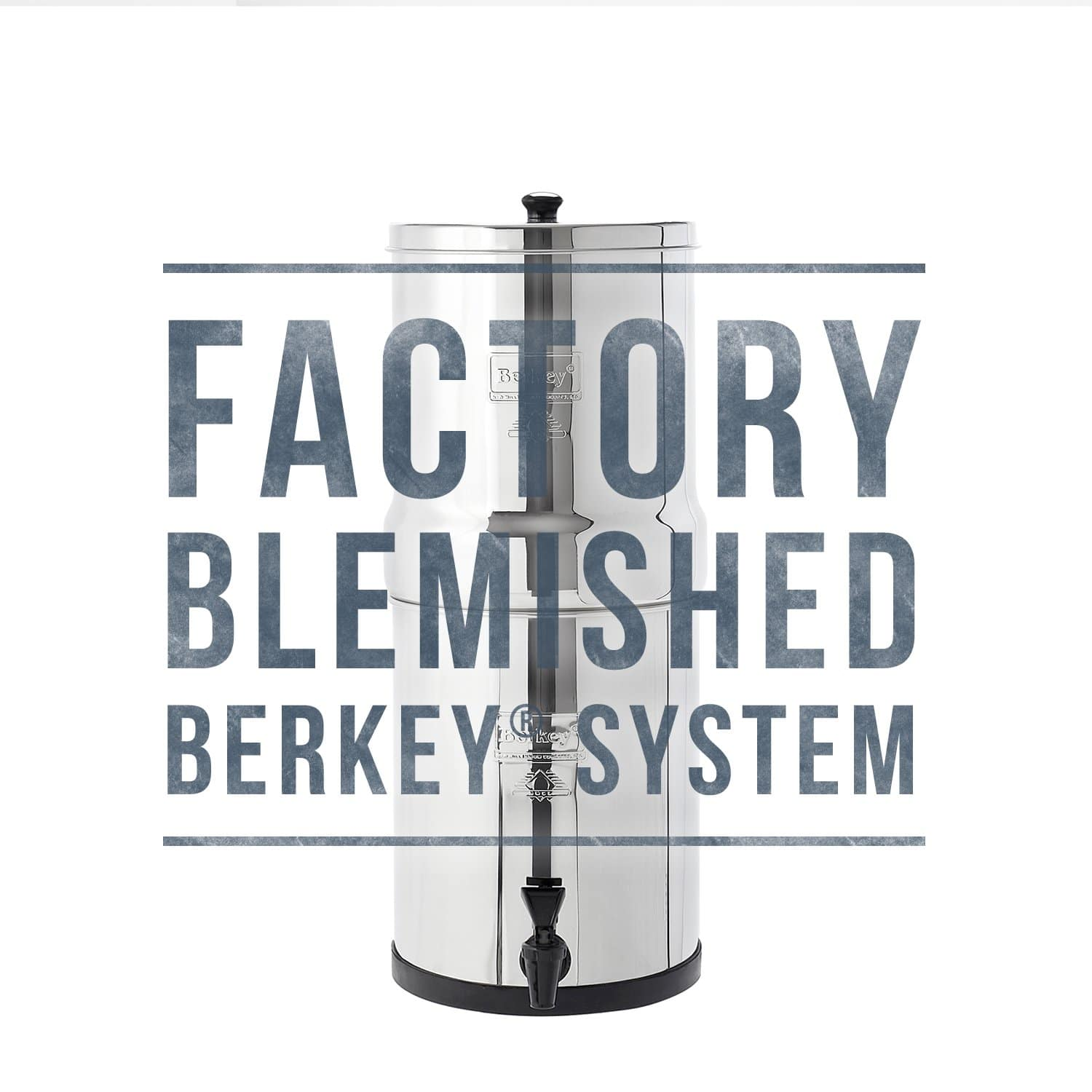 Blemished Crown Berkey®System - 6 Gallon with 2 Black Elements