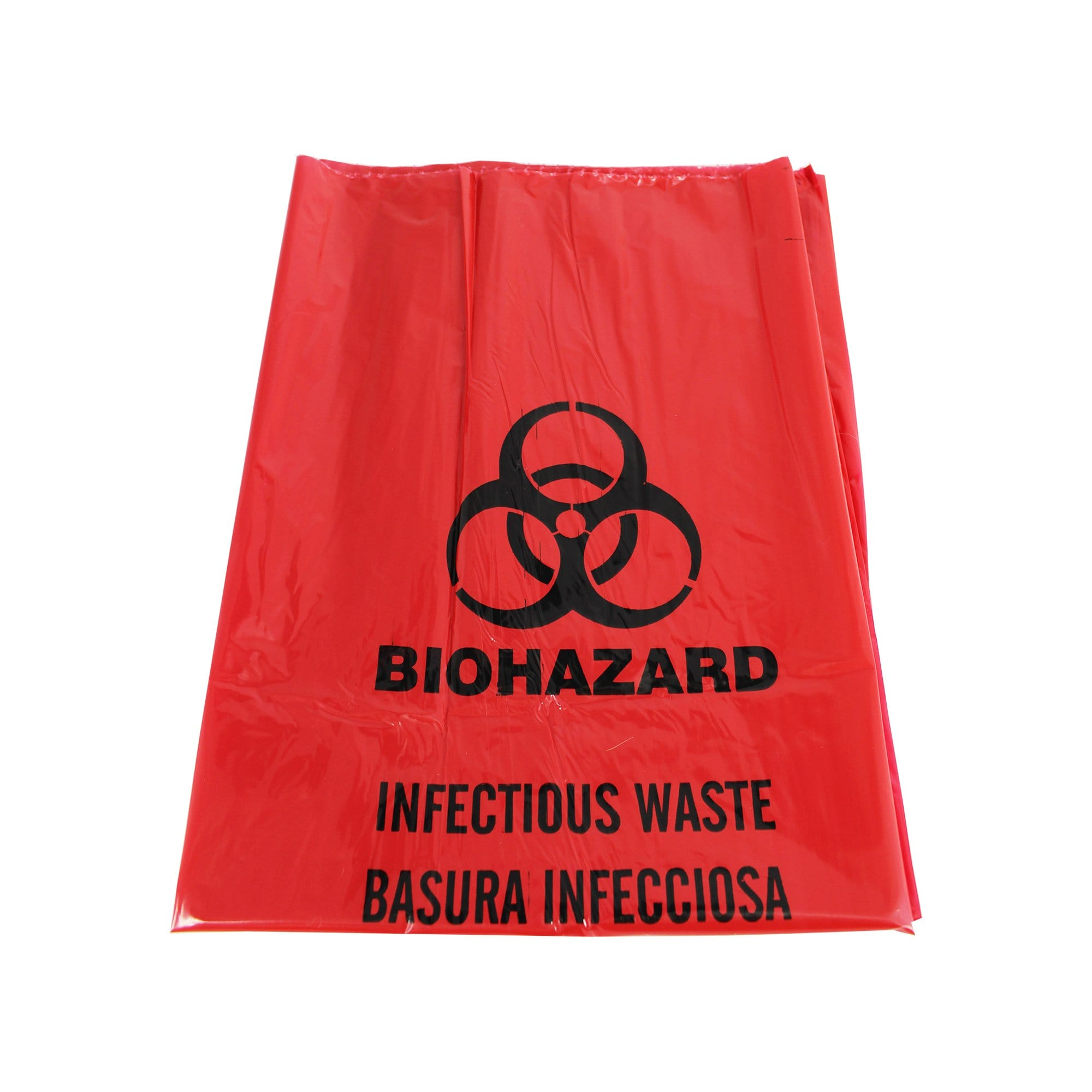 biohazard bag red