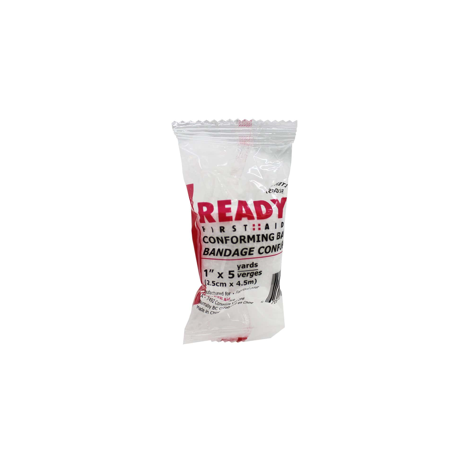 "Conforming Stretch Bandage (1""), 2.54cm x 4.5m - Ready First Aid"