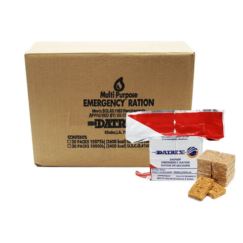 2400C Datrex Emergency Food Ration, (Case of 30)