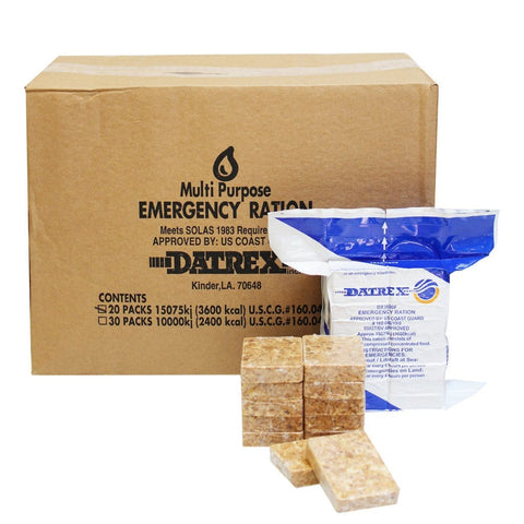 3600C Datrex Emergency Food Rations, (Case of 20)