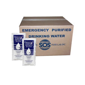 S.O.S Emergency Drinking Water by the case (96 Packs)