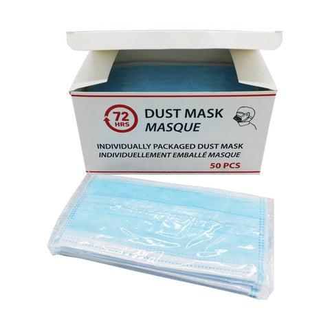 72HRS Dust Mask-Pack of 50