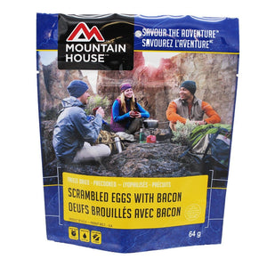 Mountain House Scrambled Eggs with Bacon Pouch Scrambled Eggs With Bacon Pouch - One Serving (Mountain House®)