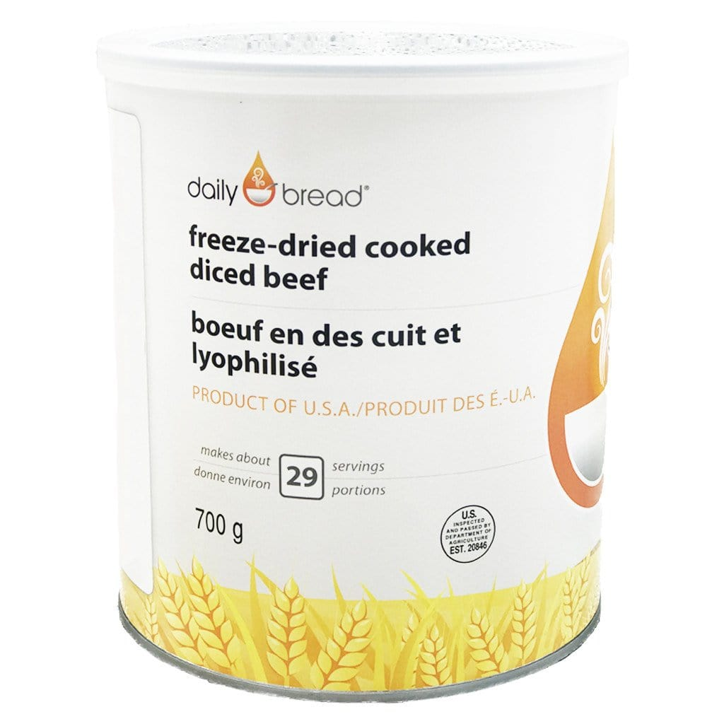 Can of Daily Bread® Freeze-Dried Cooked Diced Beef
