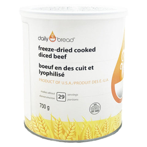 Freeze-Dried Cooked Diced Beef- Daily Bread®