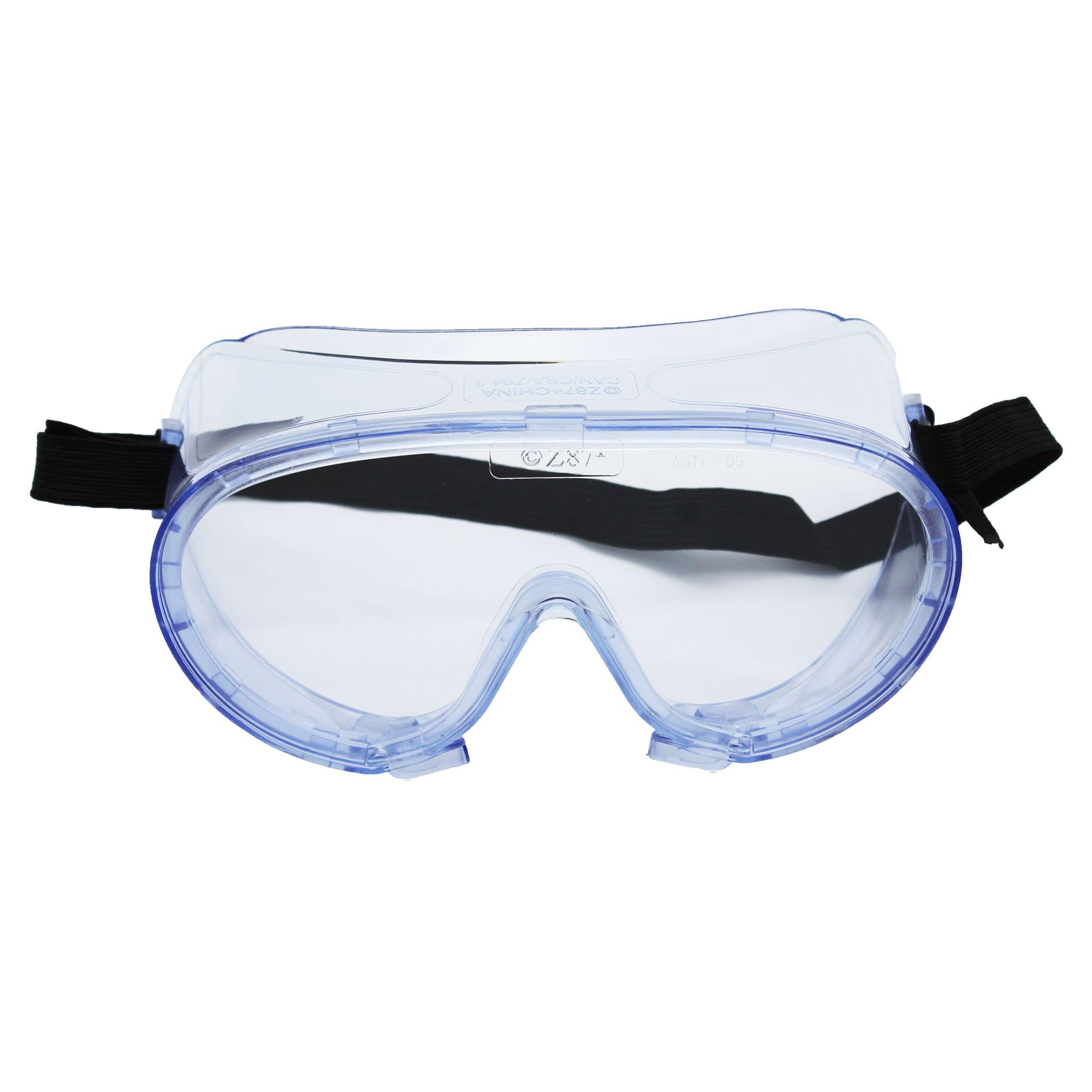 Lab Safety Goggles - Ventless Frame - Clear with Anti-Fog Lenses