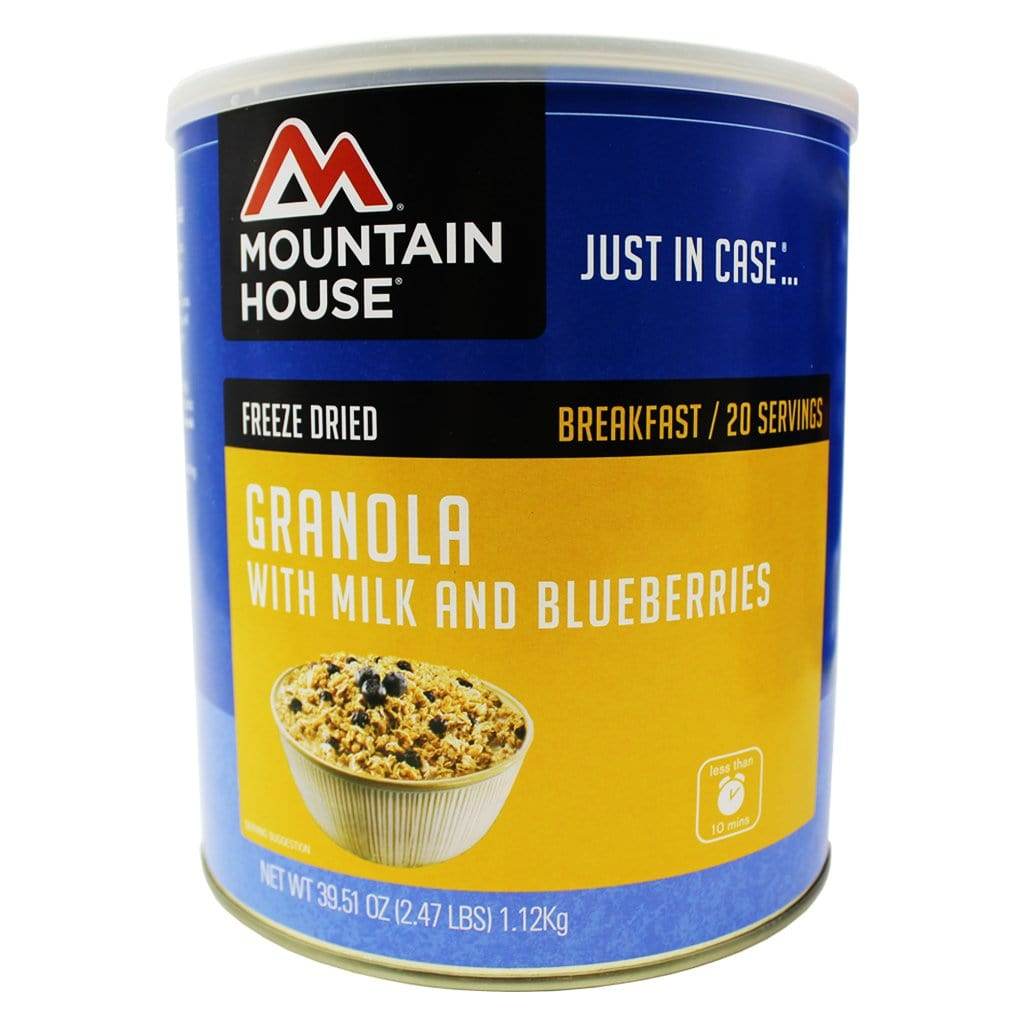Mountain House Granola with Milk and Blueberries #10 Can