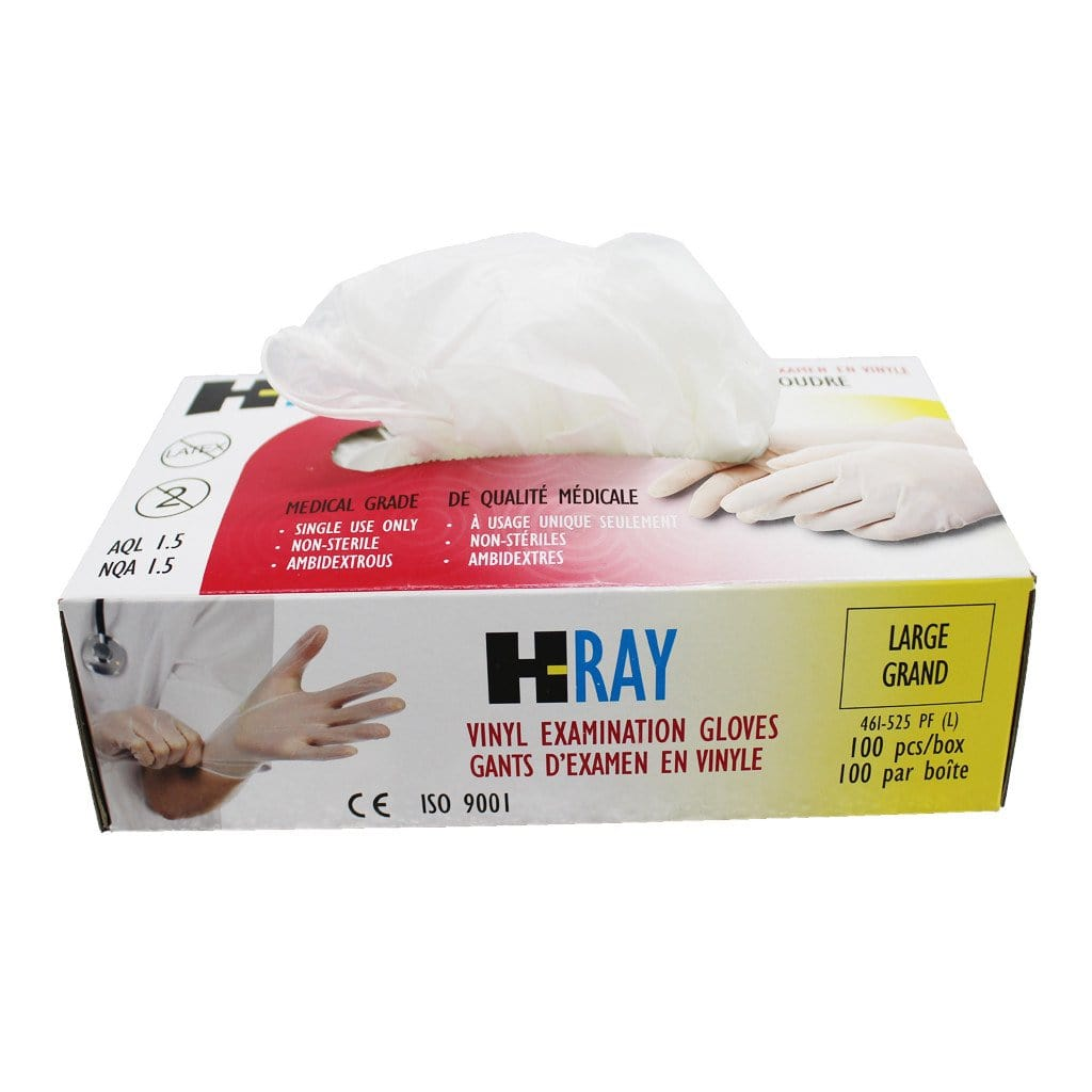 Vinyl Medical Examination Gloves (Non Sterile)- H-Ray