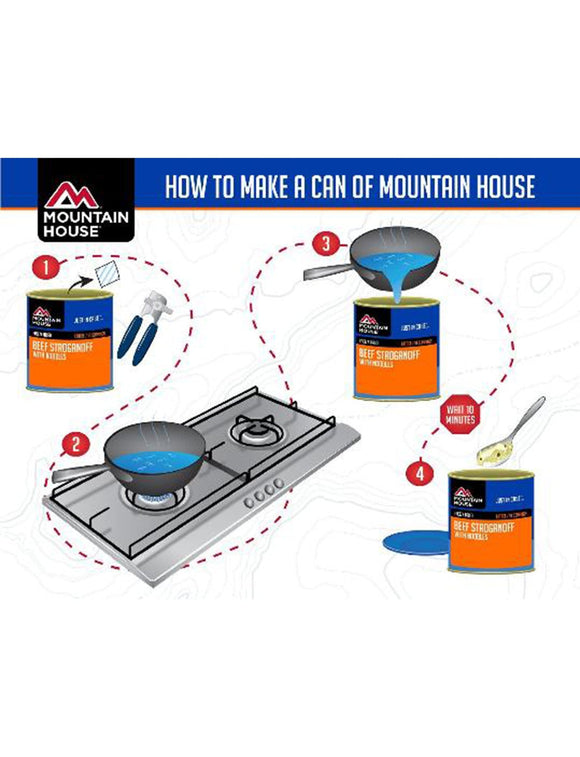 How to prepare Mountain House #10 can