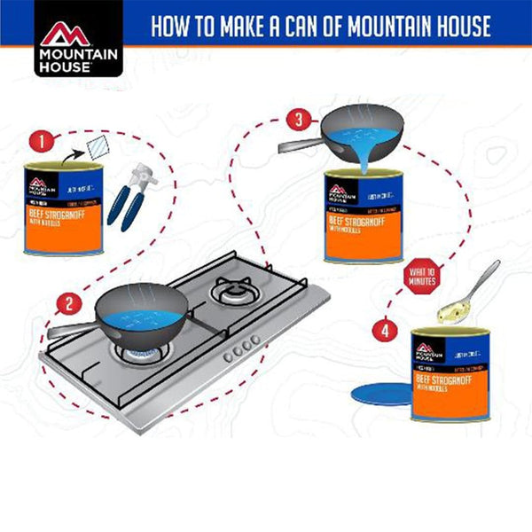 How to prepare a Moutain House #10 can