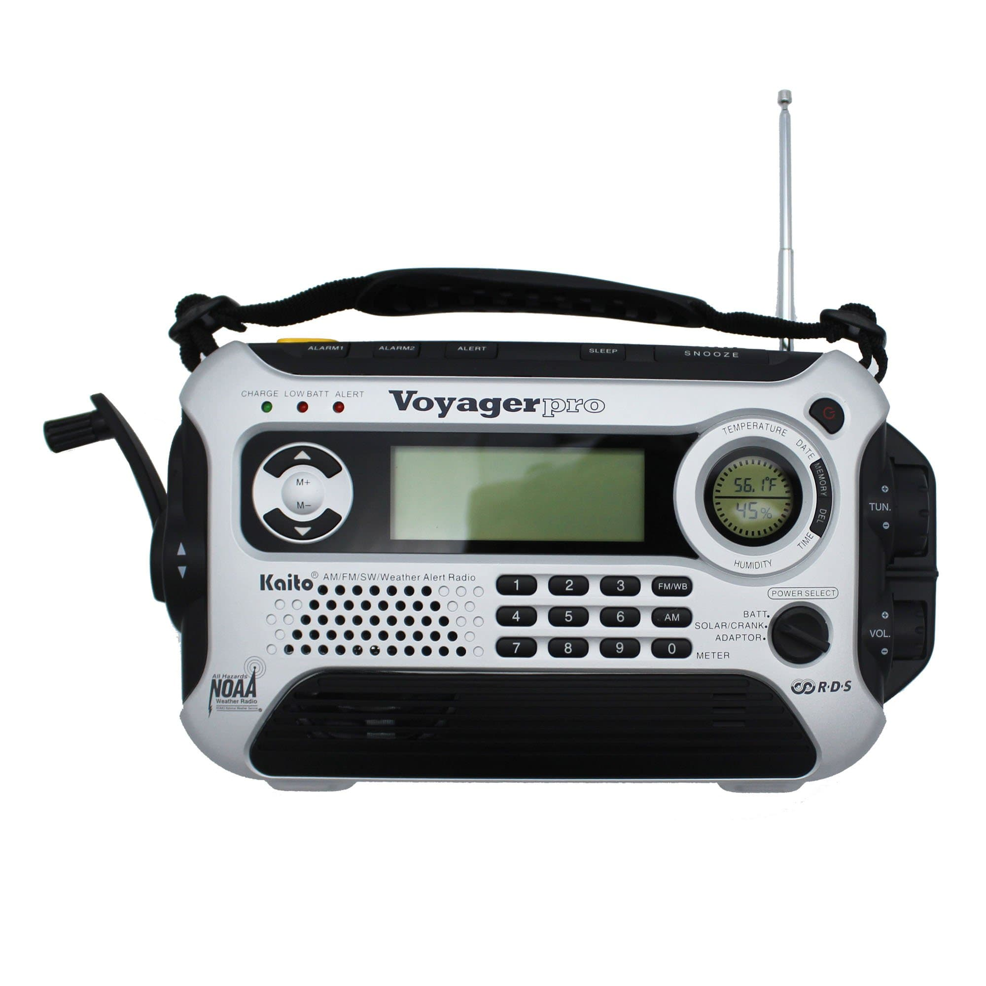 Kaito Voyager Pro KA600 Digital Solar/Dynamo AM/FM/LW/SW & NOAA Weather Emergency Radio with Alert & RDS