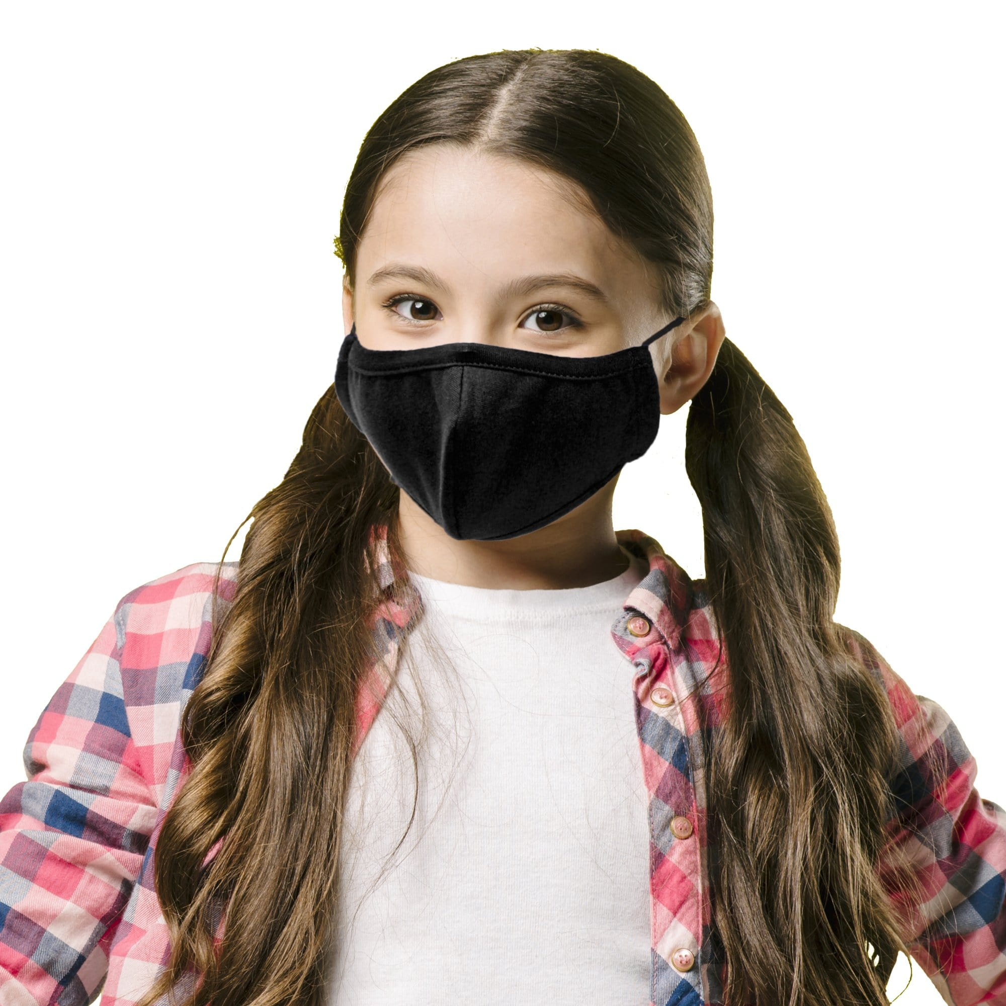 Kids Reusable Face Mask, 3-Layer, Black - Ready First Aid