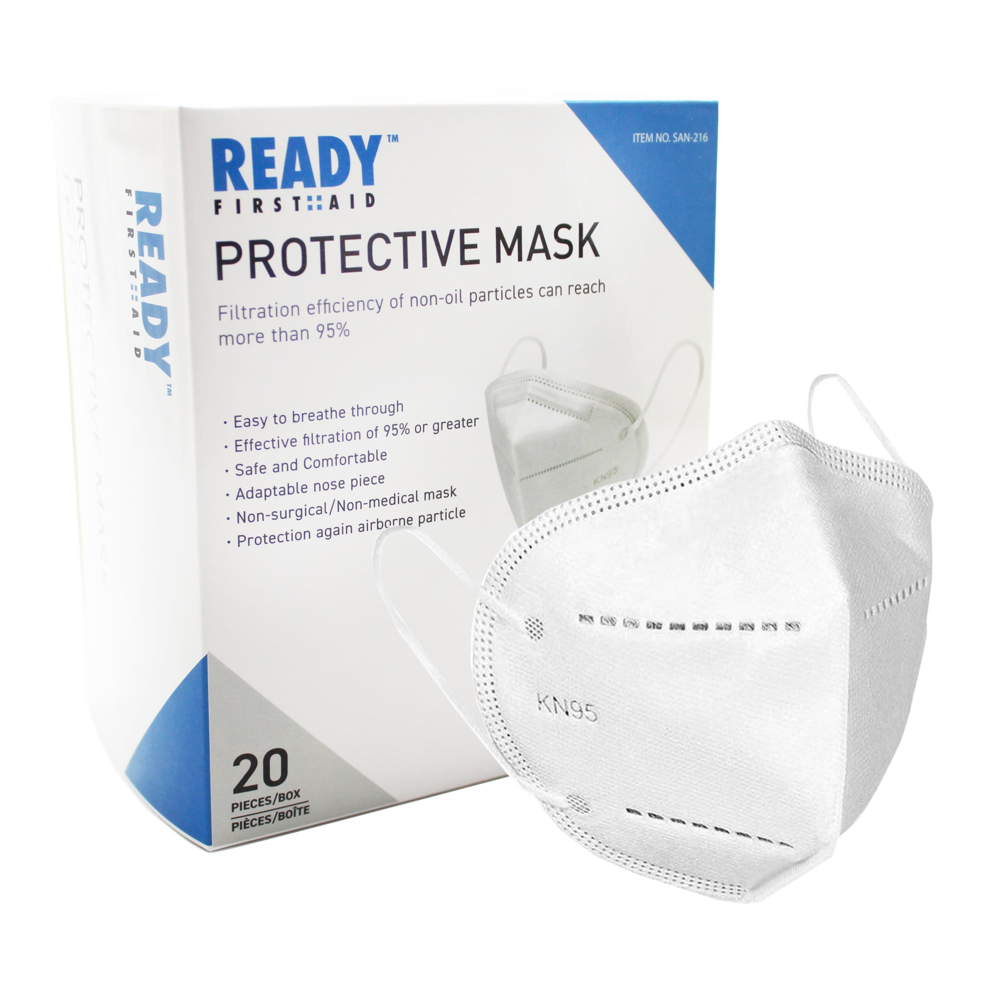 KN95 Protective Mask 4 Layer Box of 20 (As low as $1.33 Per Mask)