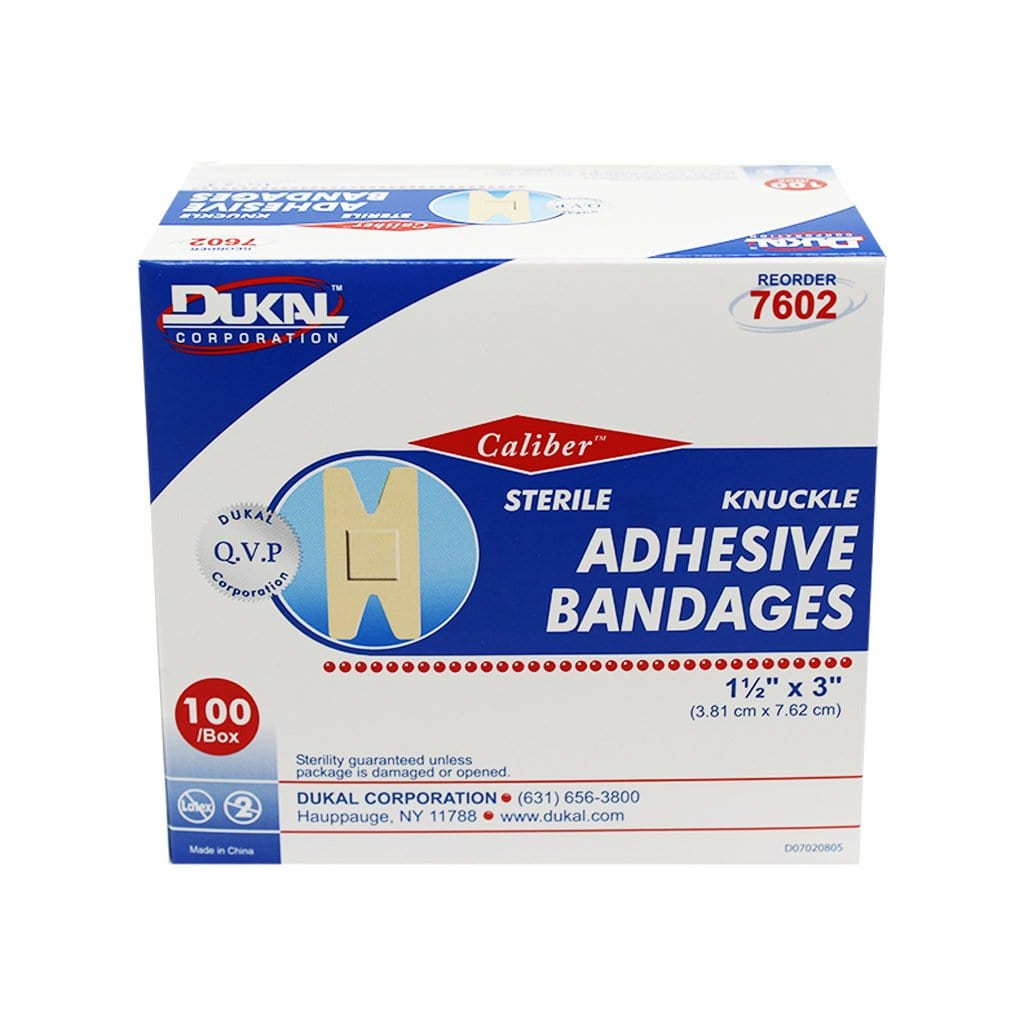 Knuckle Fabric Bandages, 3.8cm x 7.6cm - Dukal (100/box)