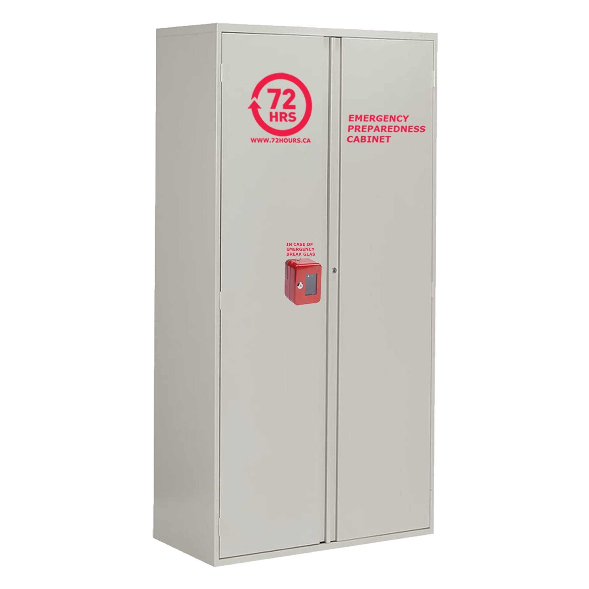 "72 HOURS 72"" Grey Storage Emergency Cabinet"