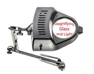 Magnifying Lamp with Clamp Black (2x-Swing Arm)