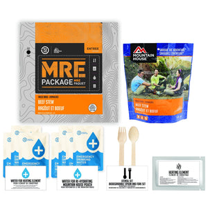 72 HOURS MRE Package Mountain House Beef Stew Pouch - Emergency Food Pack
