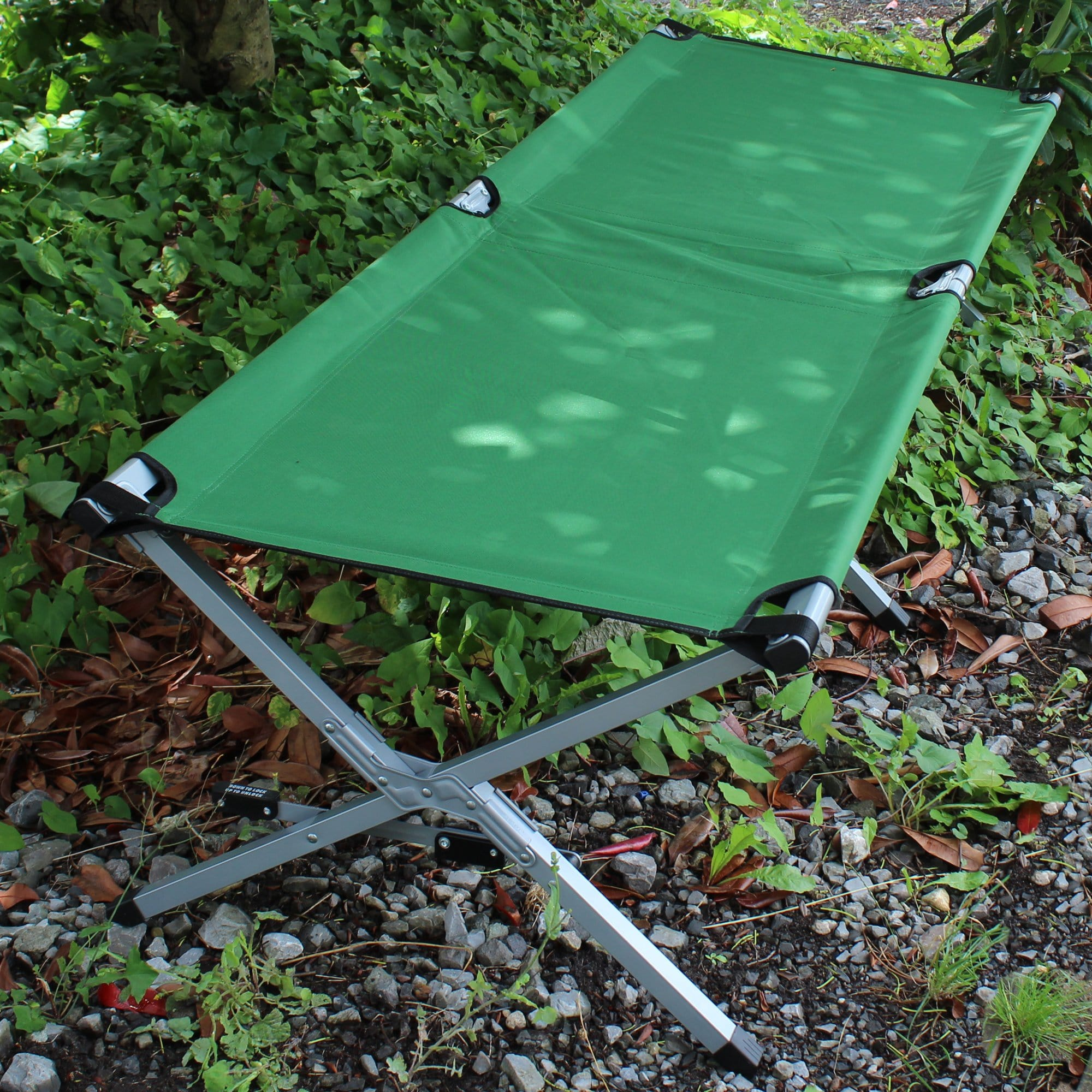 Military Style Cot outdoors