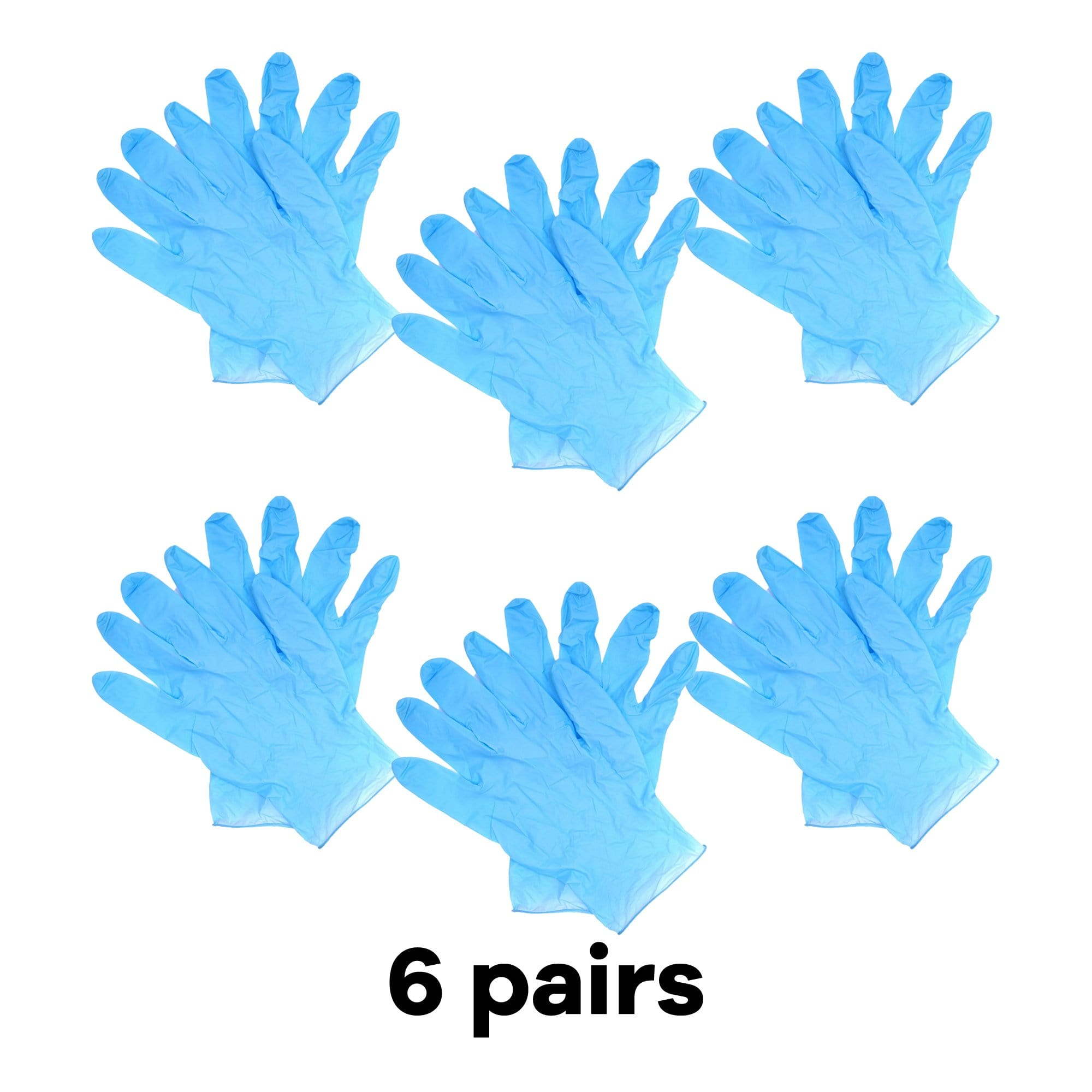Nitrile Glove, 3.5g, Blue, Size L, 12Pcs Pack