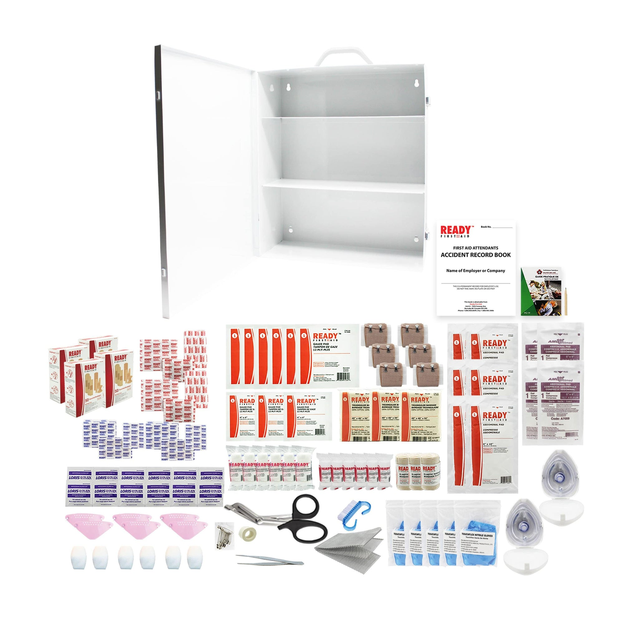 Northwest Territories Level 2 First Aid Kit Metal Cabinet