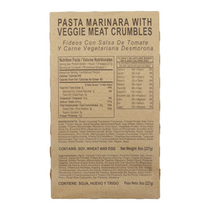 Pasta Marinara with Veggie Meat Crumbles - MRE Star