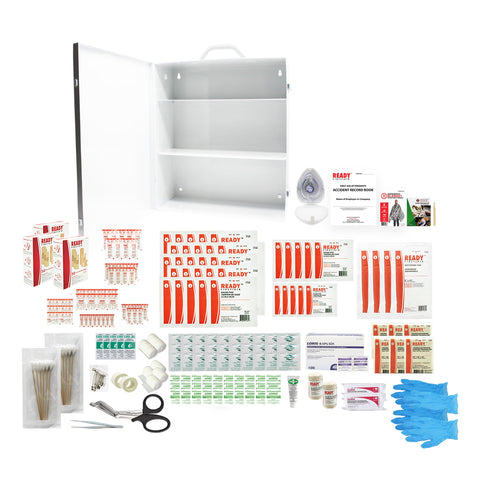 Quebec Regulation Plus First Aid Station with Metal Case/ Trousse de Premiers Soins deluxe