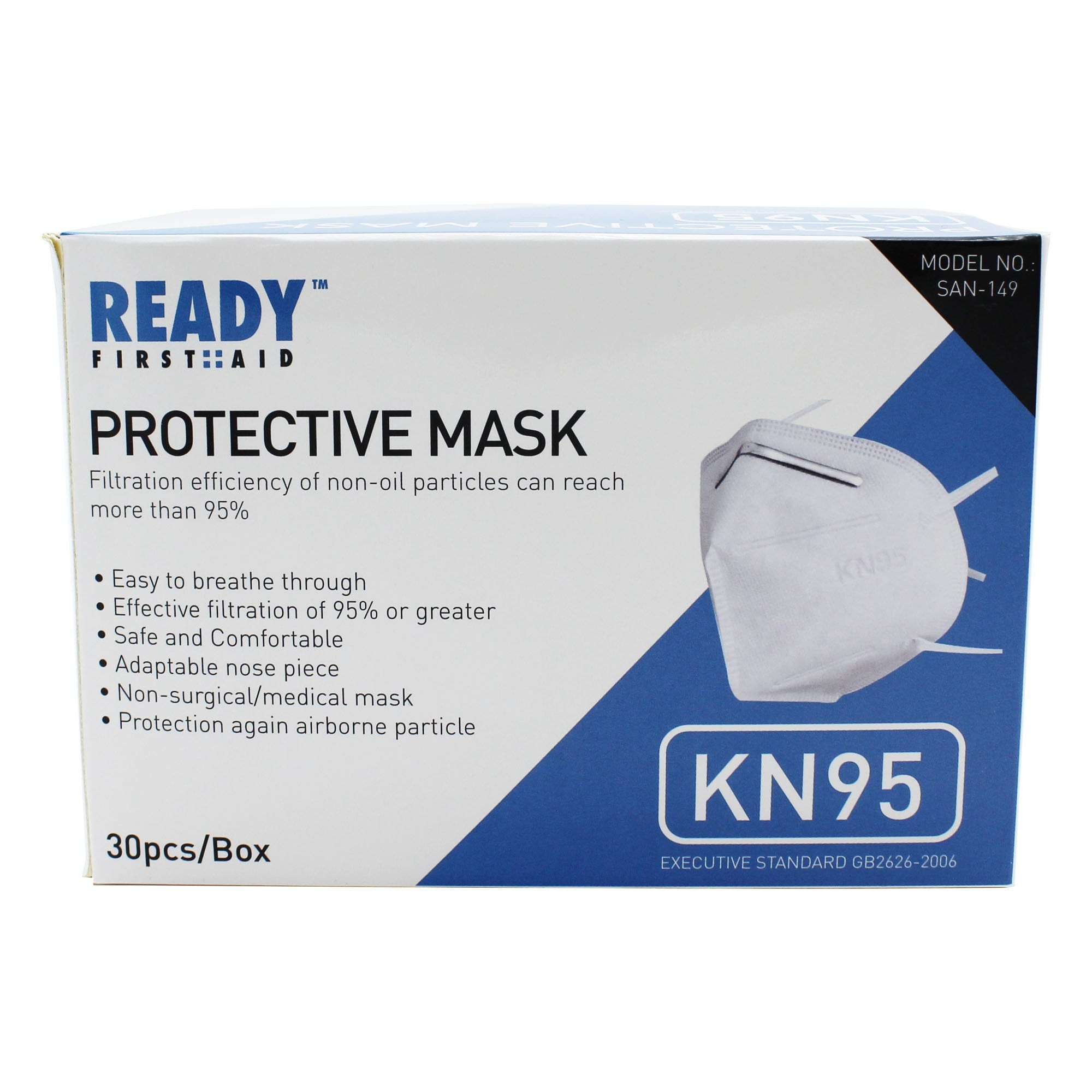 KN95 Protective Mask 4 Layer Pack of 30 ($5.33 Per Mask)