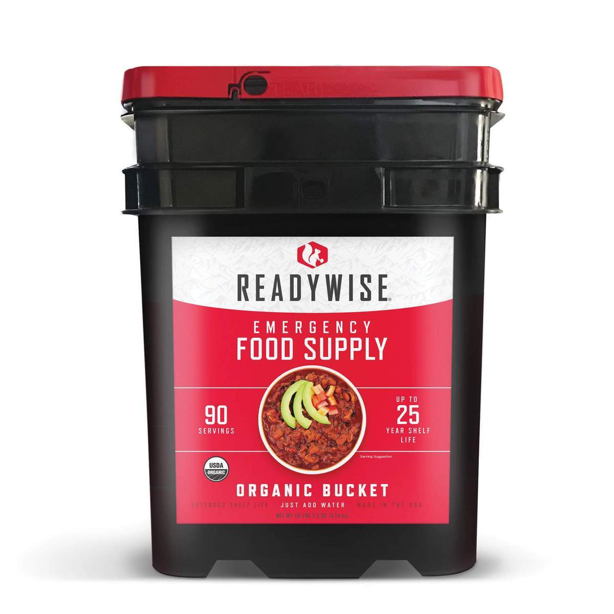 ReadyWise 90 Servings - Organic Emergency Freeze Dried Food