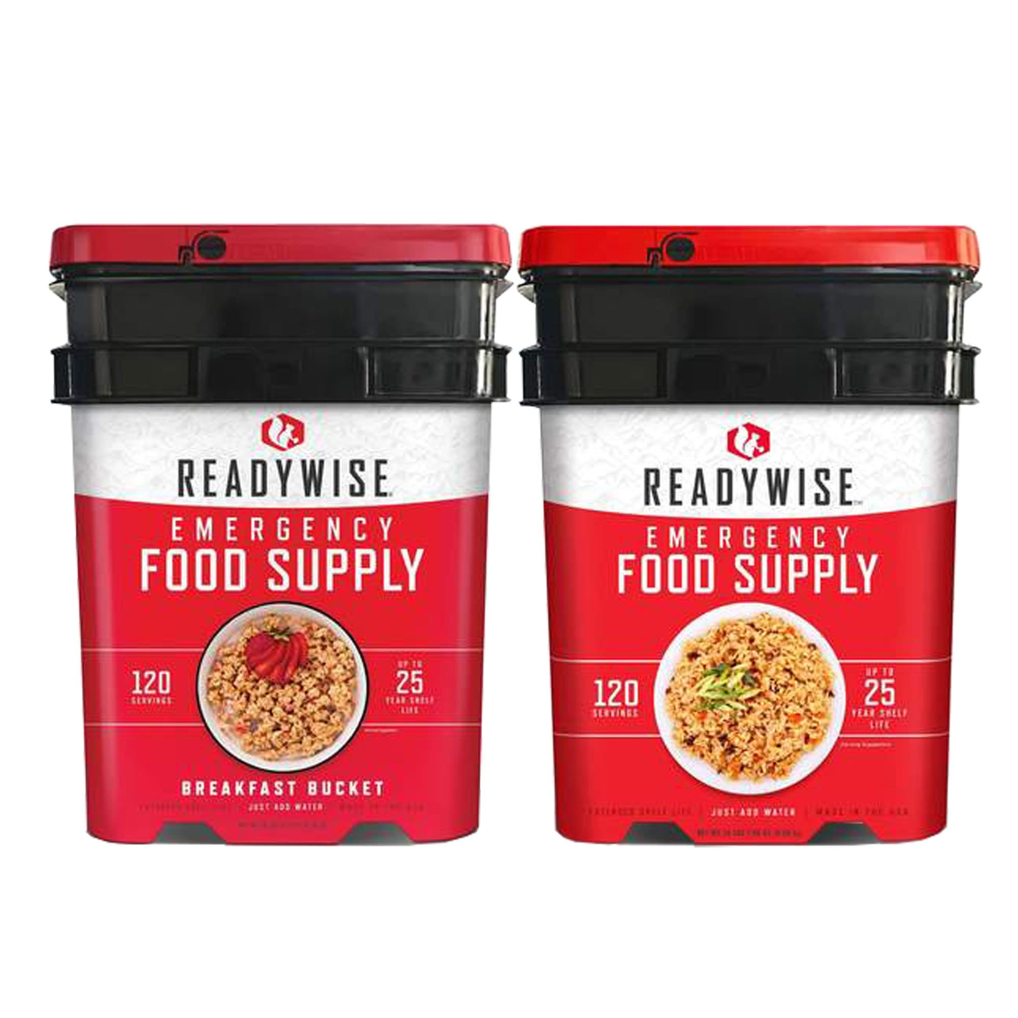 ReadyWise 240 servings package with breakfast and entree buckets