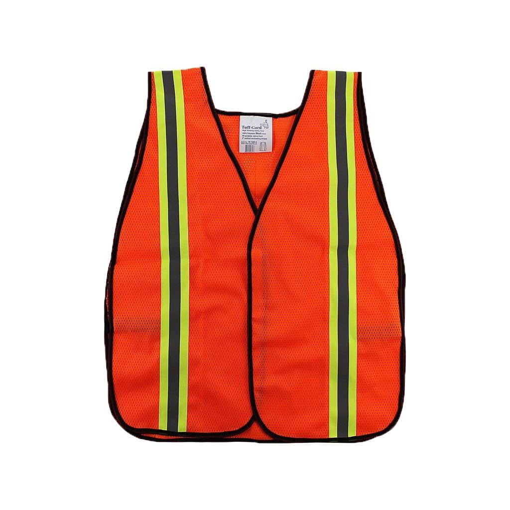 Safety Vest with Reflective Yellow Stripe