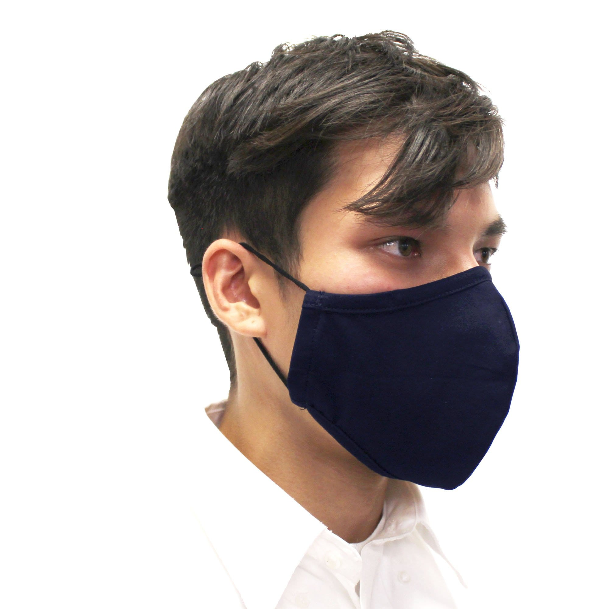 Reusable Face Mask, 3-Layer, Navy Blue, V2 - Ready First Aid