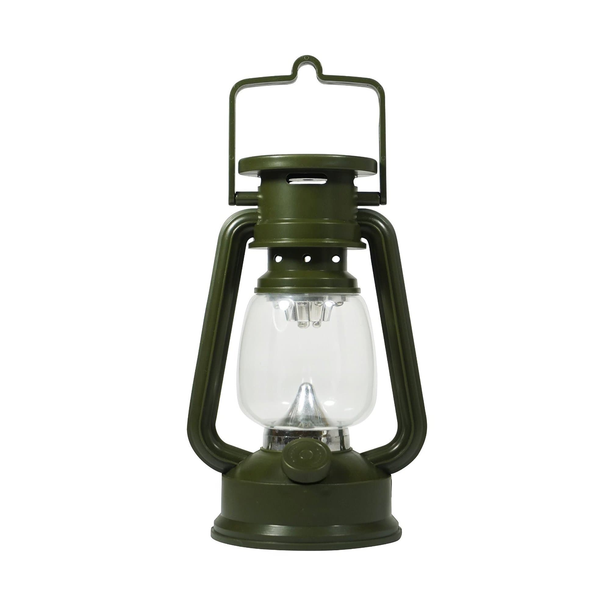 """7-1/2"""" Tall 15 LED Green Hurricane Lantern  with Compass and  Dimmer Switch"""