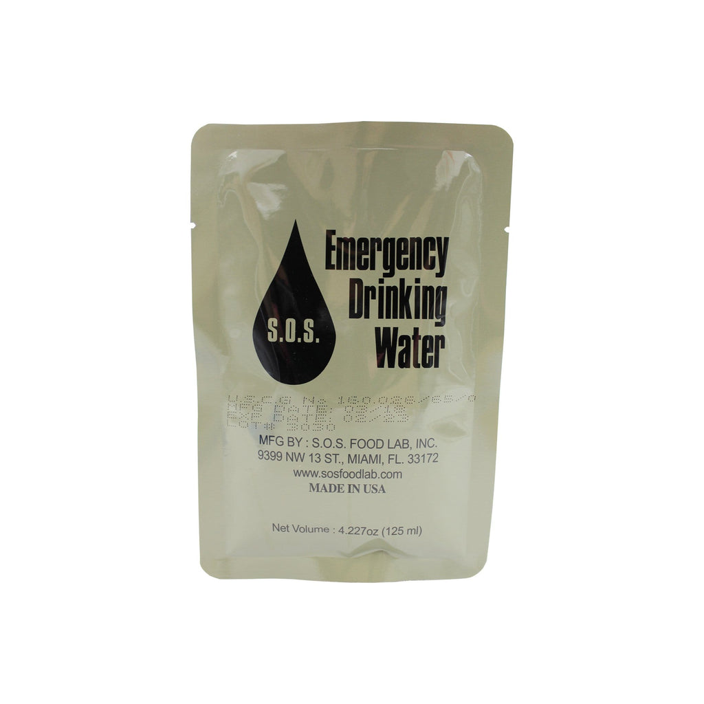 S.O.S Emergency Drinking Water 125ml - Military Water